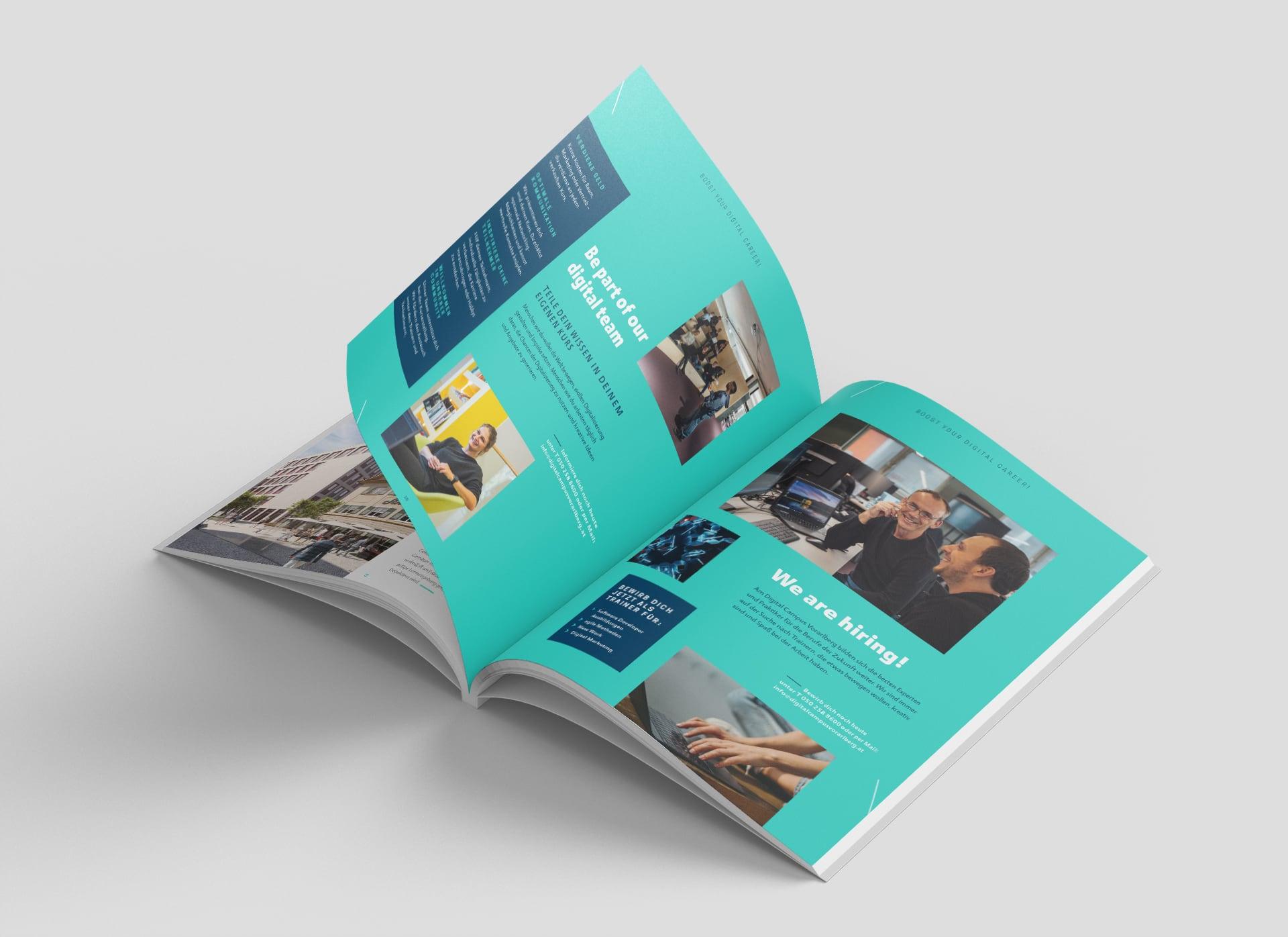 Innenseite im Kursbuch zum Thema Be part of our digital team
