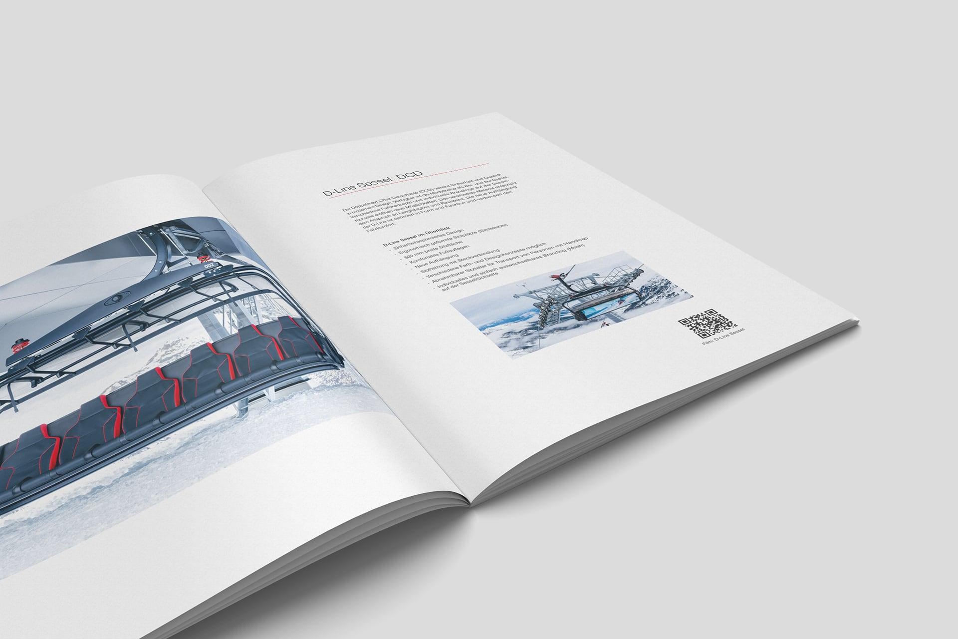 Innenseite der D-Line Broschür zum Thema Sessel