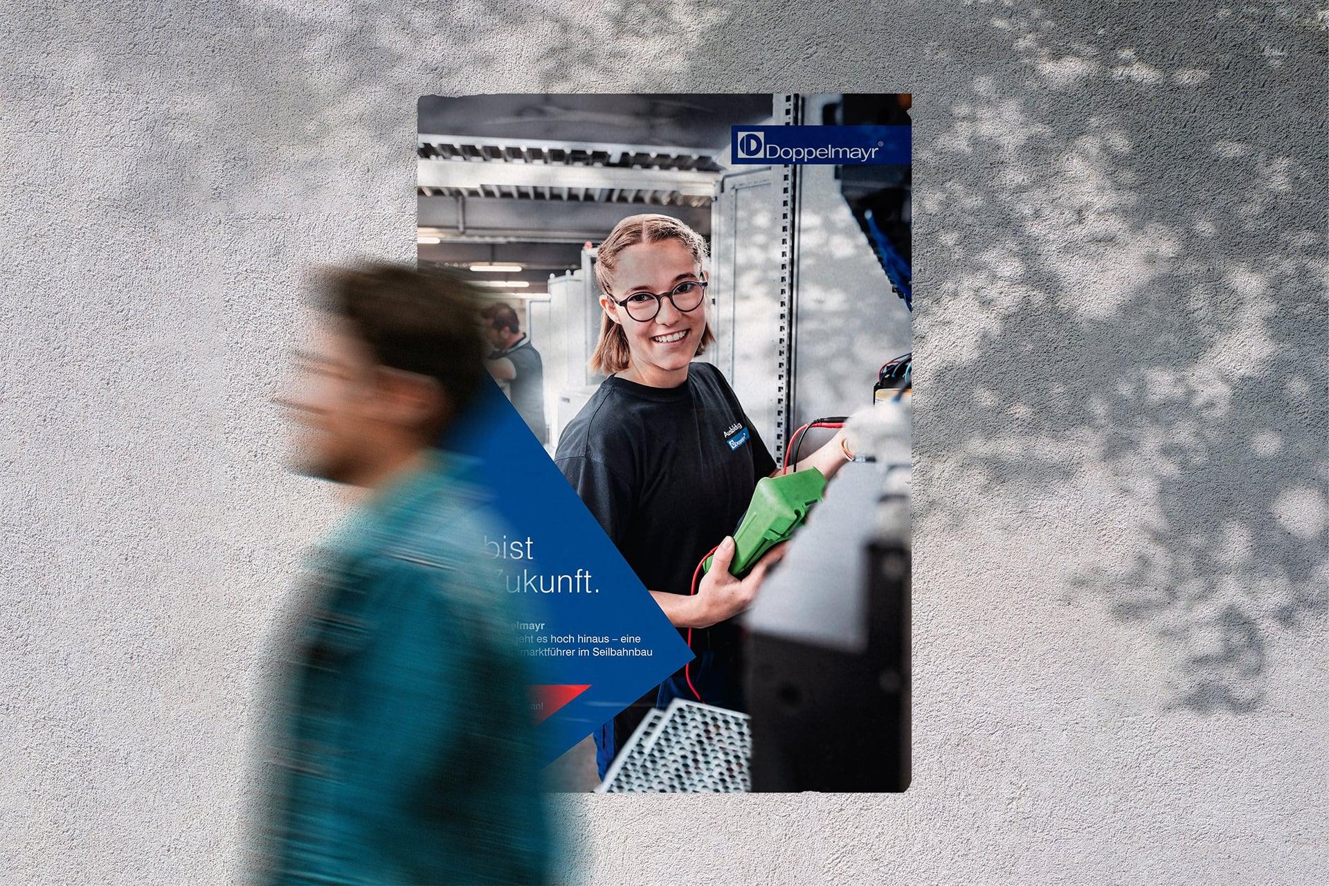 Plakat mit weiblichem Lehrling