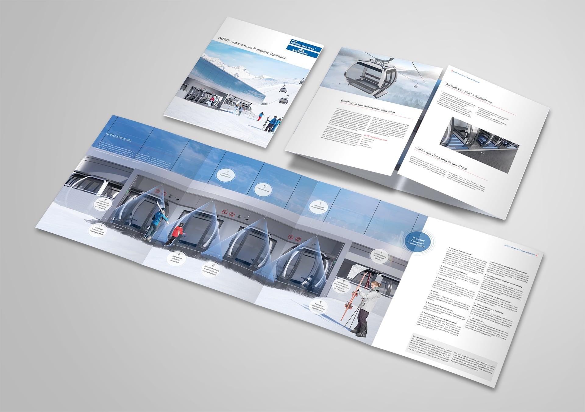Doppelmayr Atria Broschüre Innenseite mit Funktionsgrafik
