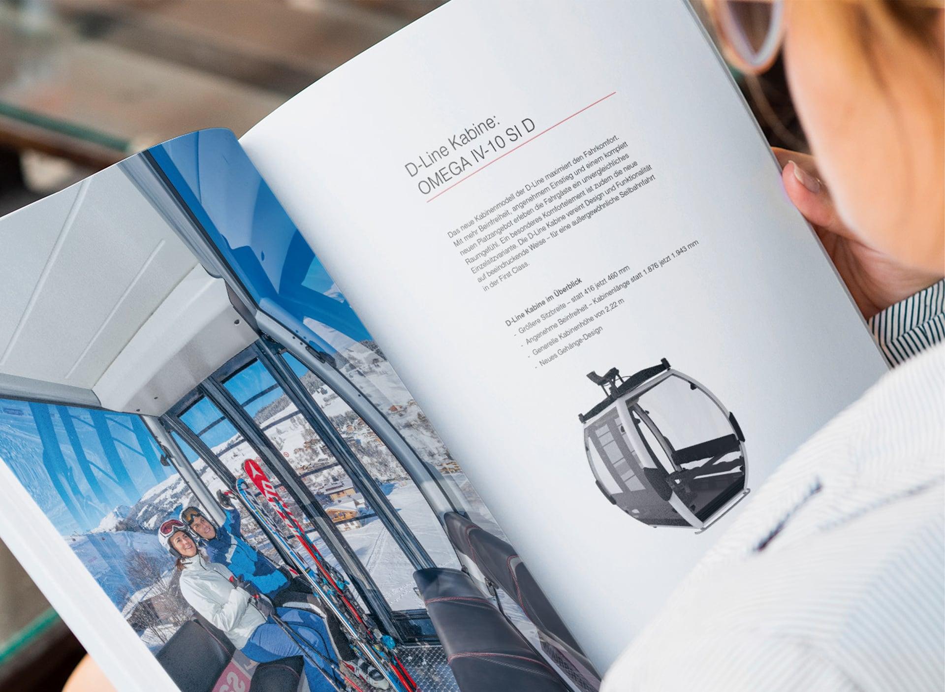 D-Line Broschüre Innenseite Kabine