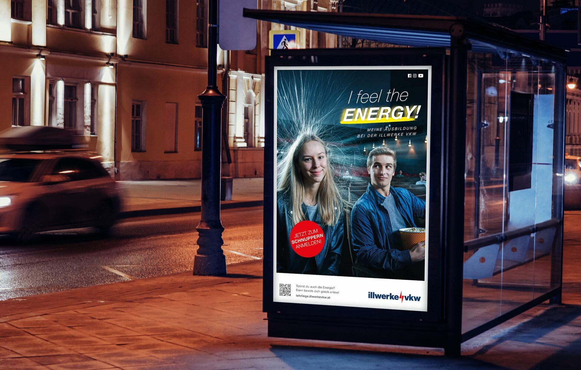 Citylight Plakat mit dem Sujet