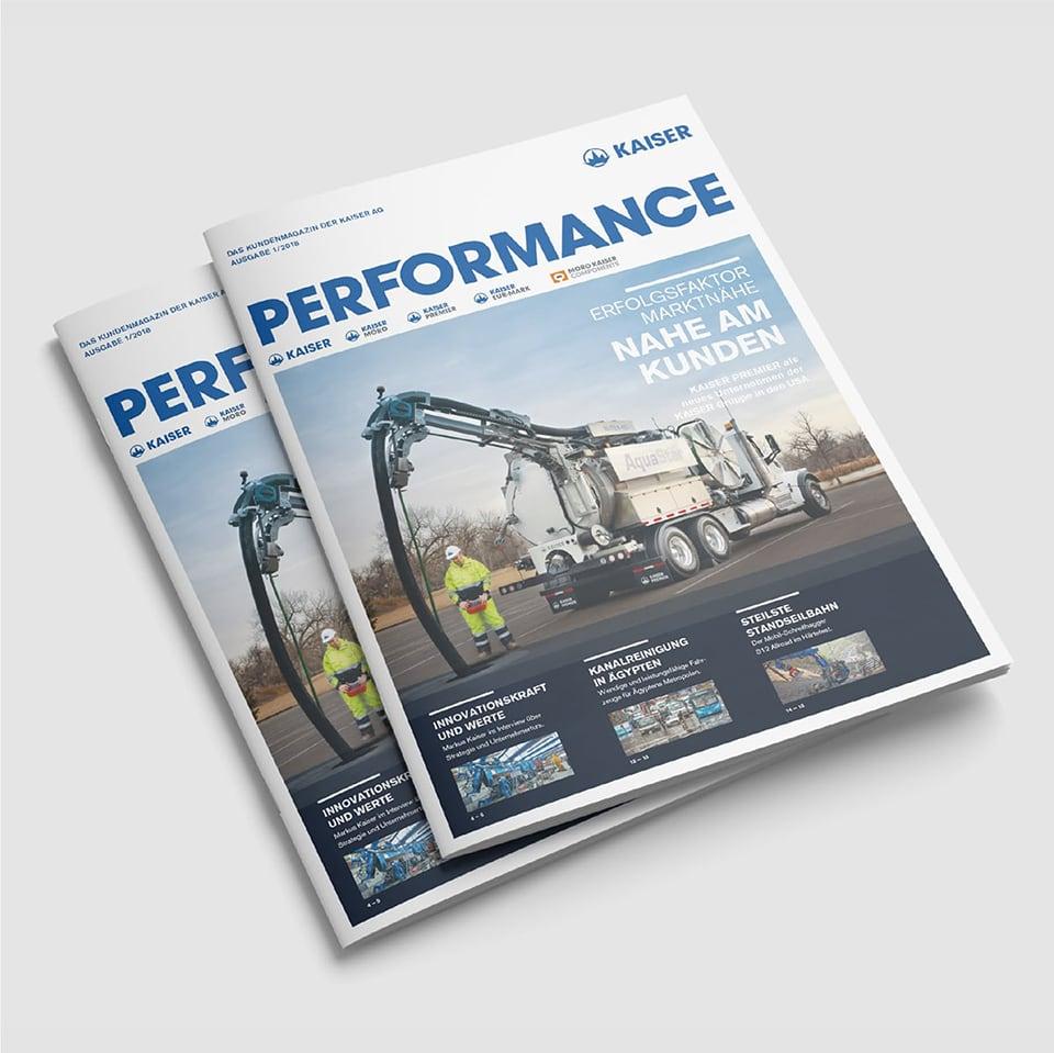 Cover Kaiser Kundenmagazin Performance