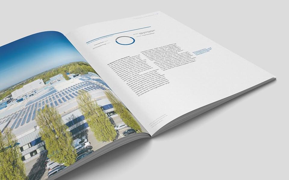 Innenseite mit Unternehmensinfos des Alpla Nachhaltigkeitsberichts