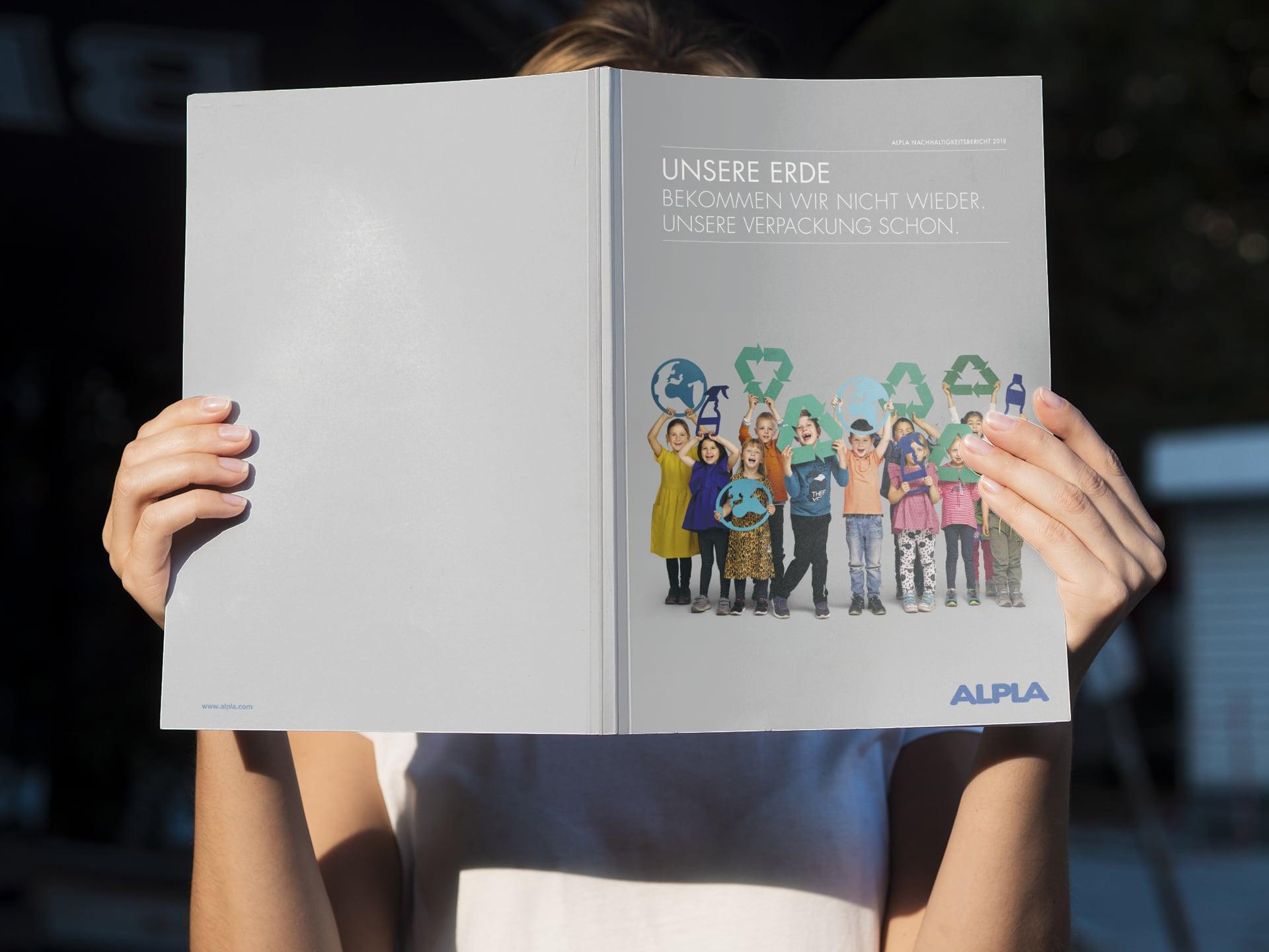 Cover des Alpla Nachhaltigkeitberichts