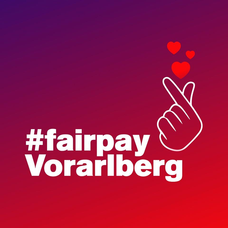 Logo der #fairpay Kampagne der AK Vorarlberg